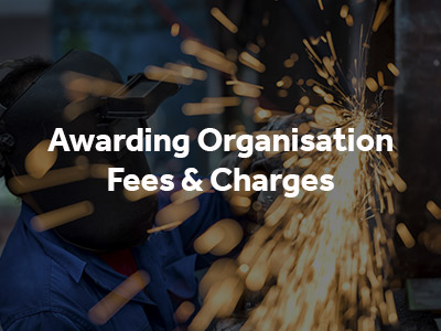 Awarding Fees and Charges button