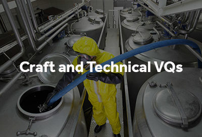 Craft and technical VQs button