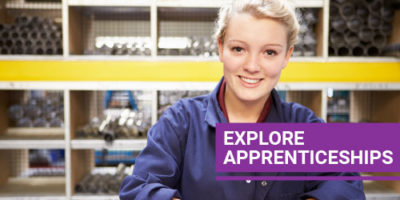 Explore Apprenticeships button