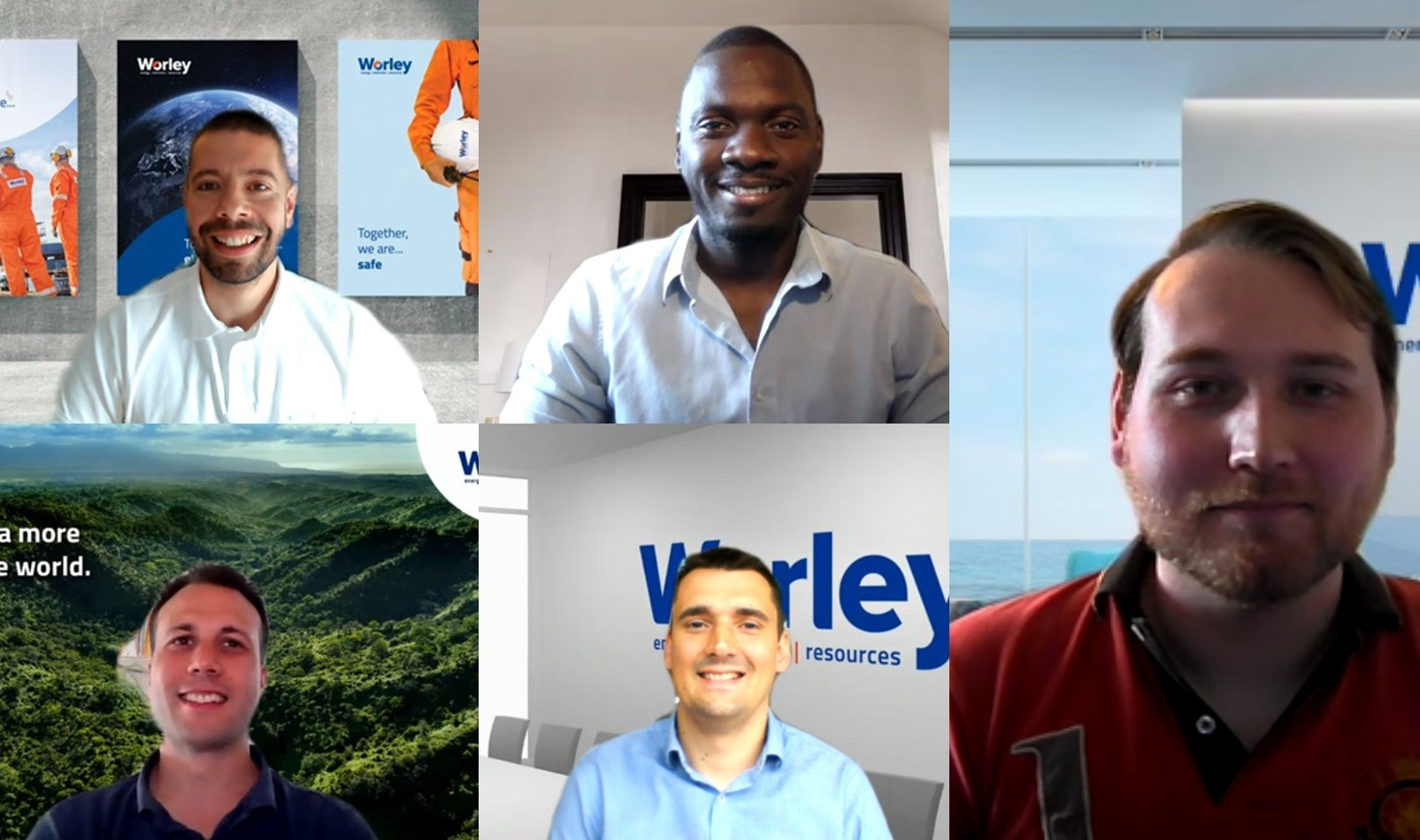 Screen grab of the The winning team from Worley